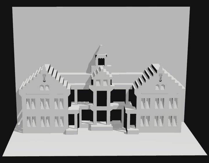 christmas house templates | ... Parliament House Pattern 300x233 Kirigami Parliament House Pattern tkc-would make a nice university building in HO.