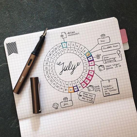 calendario redondo