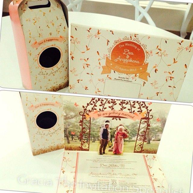 Pop Up 3D Garden theme #invitation #design #wedding #invitation #beautiful #unique #party