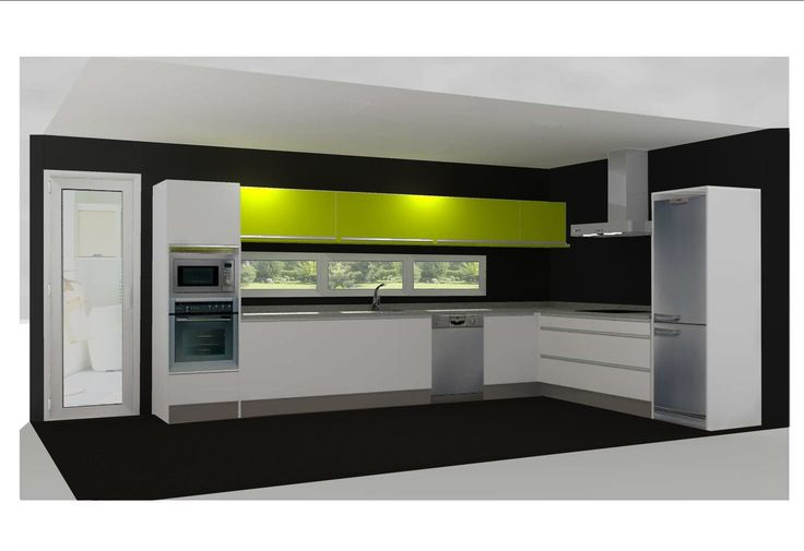 Nuestras cocinas, encimera verde!