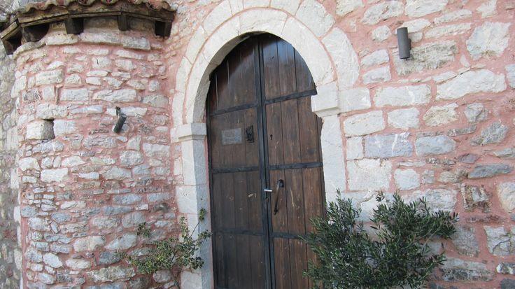 At the traditional stone village of Dimitsana, Greece