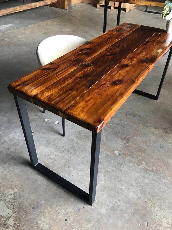 Reclaimed Wood Steel Desk Wood Office Desk Desk Wood And