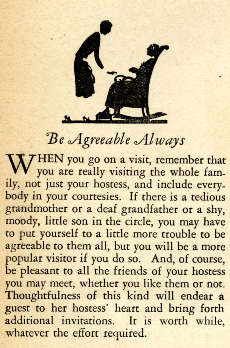 Favorite Vintage Advice: Be Agreeable Always