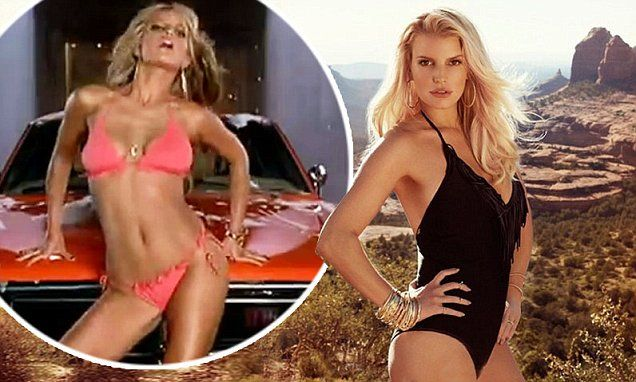 Hot bod time machine! Jessica Simpson rolls the clock in sexy swimsut