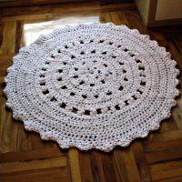 Dywan biały ażurowy 120cm