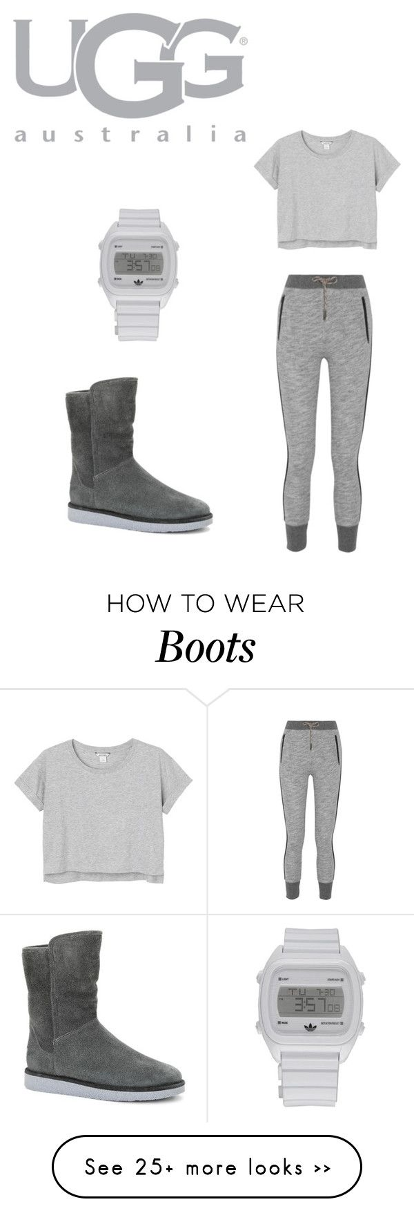 Boot Remix with UGG : Contest Entry by auntiegirl02 on Polyvore featuring UGG Australia, rag  bone, Monki and adidas