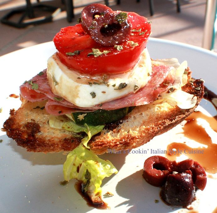 What's Cookin' Italian Style Cuisine: Bruschetta Antipasto Appetizer Recipe