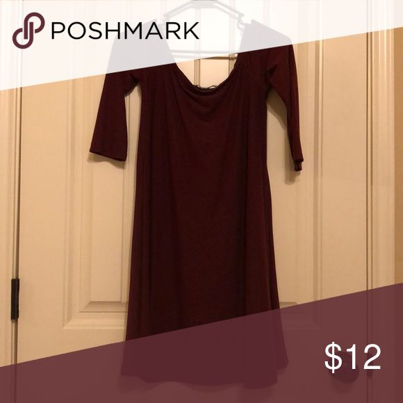 Maroon Dress With Half Sleeves Flowy Mini Maroon Dress With Half Sleeves Very Comfortable Material Is Stretchy And Moves Wit Maroon Dress Half Sleeves Dresses