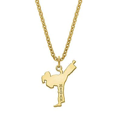 jcp | Personalized Karate Name Pendant Necklace