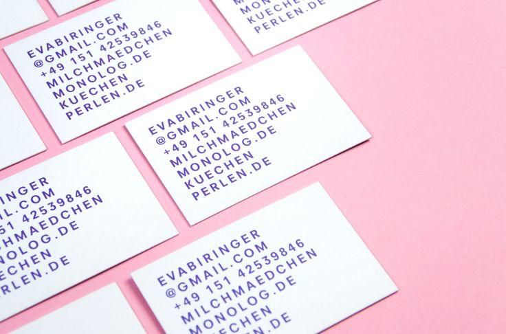 Eva Biringer business cards designed by Studio Hausherr.