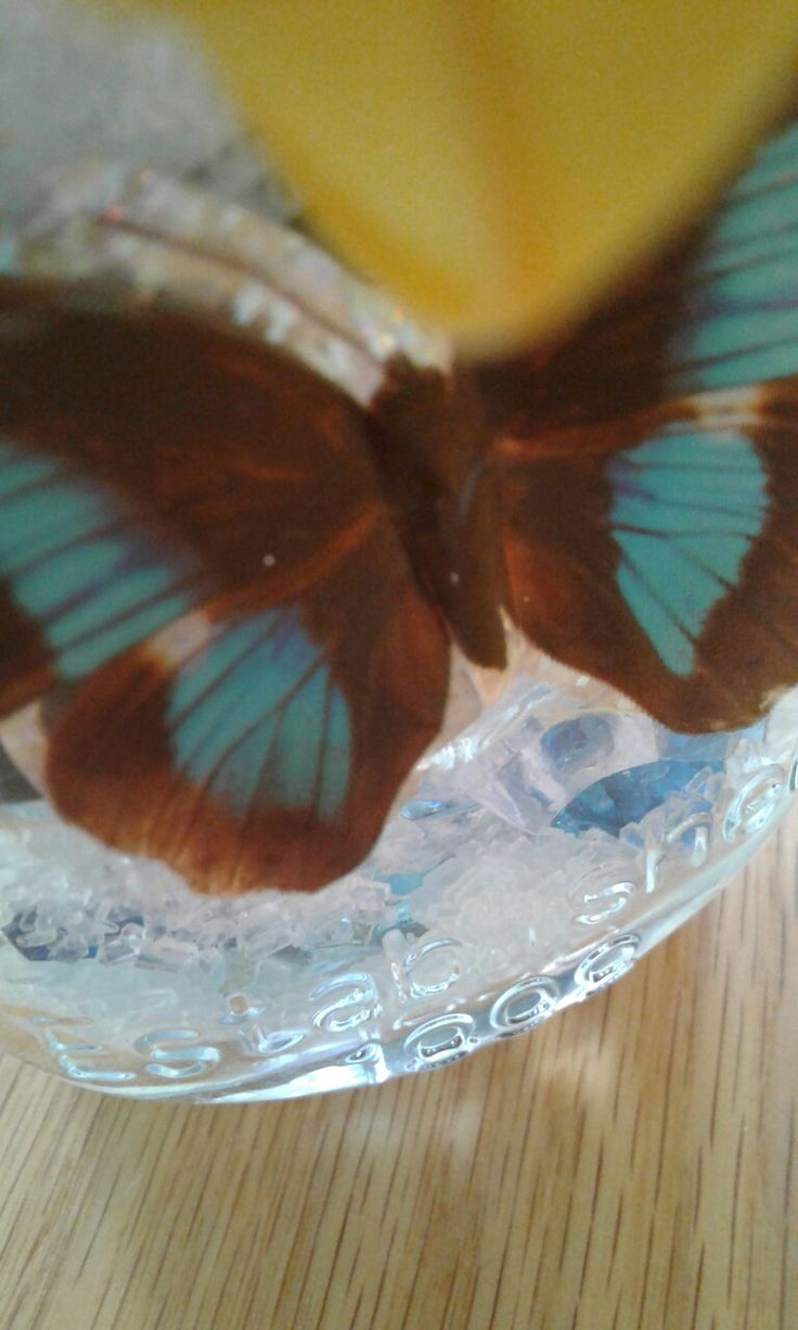 A nice butterfly on the mason jar to finish the decorations