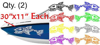 2 LARGE BONEFISH BONE FISH FOR SKEETER RANGER LUND FISHING BASS BOAT DECALS | eBay Motors, Parts & Accessories, ATV Parts | eBay!
