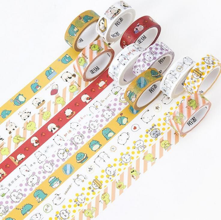 1.5CM Wide Lovely Cartoon Star Moly Washi Tape DIY Scrapbooking Sticker Label Masking Tape School Office Supply