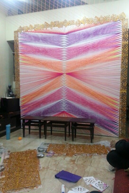 Colour therapy backdrop for Ganesh Chaturthi... Year 2014