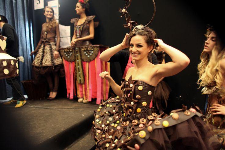 salon du chocolat défilé de mode globe dancer emilie bramly ballet