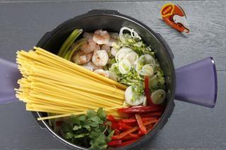 One pot pasta crevettes à la thai
