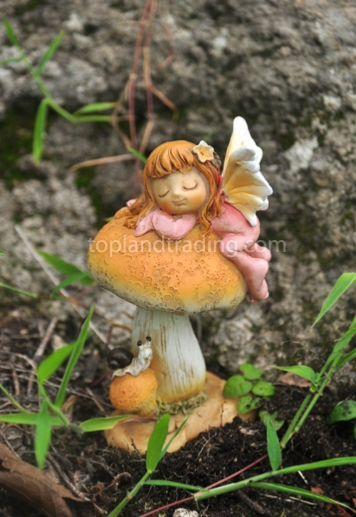 Little fairy sleeping on a toadstool 4078