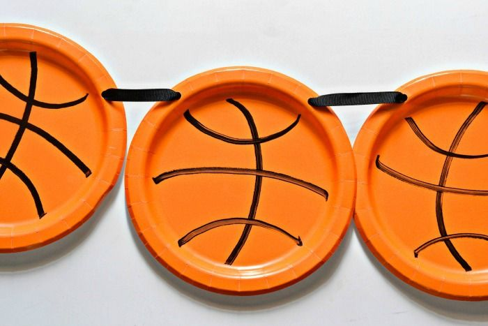 Easy Basketball Plate Party Banner
