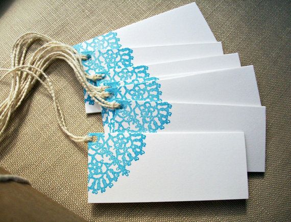 Folded Lace Doily Gift Tags, Mini Note Card Set, Wedding Place Escort Cards, Favor Tags on Etsy, $8.03 AUD