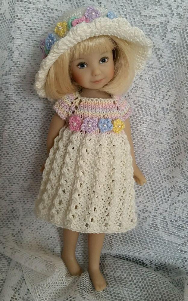 Handknitted Outfit For Dianna Effner Heartstrings Doll 8 Kidz N