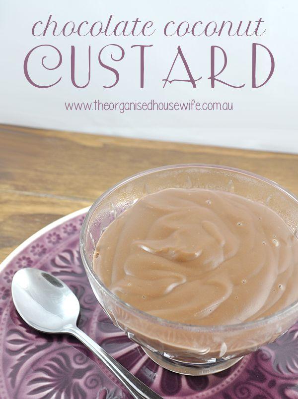 Chocolate Coconut Custard