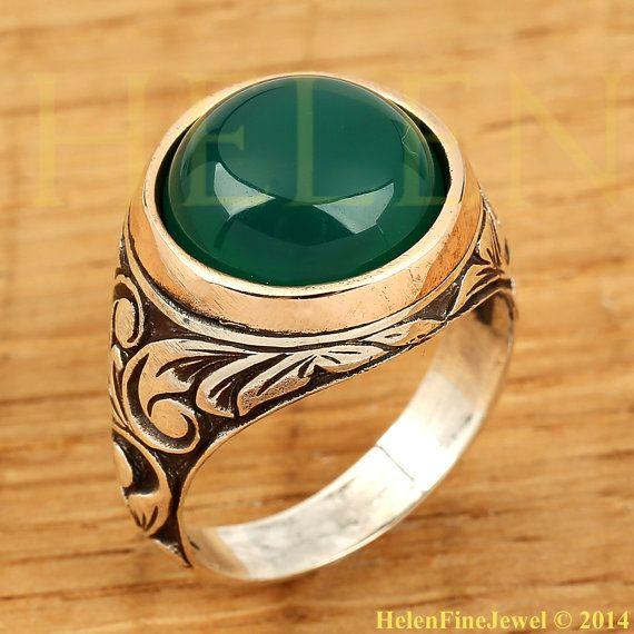 Sultan Süleiman Round Shape Jade Stone Look  by helenfinejewels