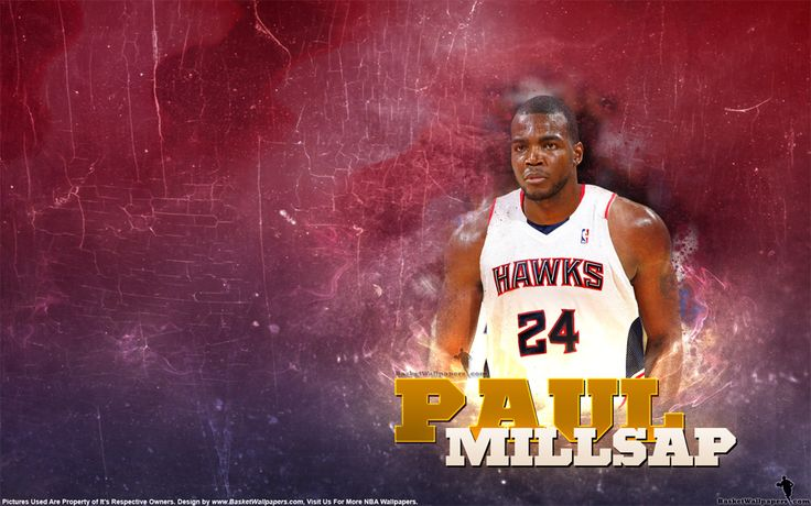 Wallpaper of Paul Millsap in Atlanta Hawks jersey, full size available for download at - http://www.basketwallpapers.com/USA/Paul-Millsap/ :)