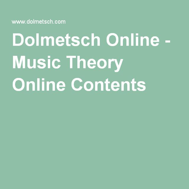 Dolmetsch Online - Music Theory Online Contents