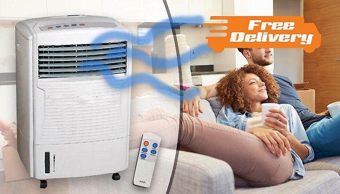 Buy Remote-Controlled Air Cooler and Humidifier - Free Delivery! UK deal for just: £59.00 Create the perfect temperature with the Remote-Controlled Air Cooler      Cooler features a 3-speed wind position      Compact, freestanding ad portable design      Remote control allows you to alter the temperature with ease      7.5 hour timer - keep cool all day.      Water tank capacity: 10L     ...