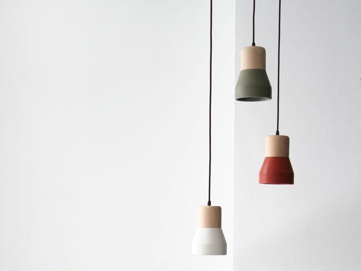 TRÆ/BETONLAMPE - GRØN by Specimen Editions