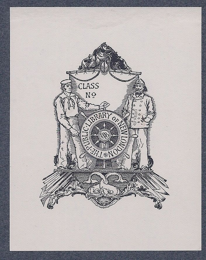 Bookplate by George Wharton Edwards for The Public Library of New London