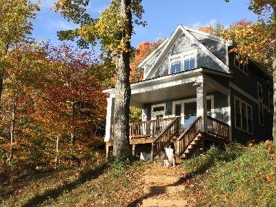 ludington cottage rental hamlin lake hideaway homeaway design rh pinterest com