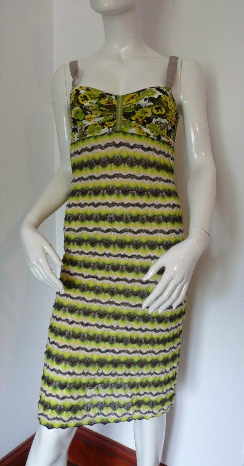 155.82$  Buy here - http://vicdt.justgood.pw/vig/item.php?t=a6fieyt588 - MARC CAIN MULTI GREEN SEXY BODYCON DRESS £329 UK 8, 12, 14 & 16 BNWT