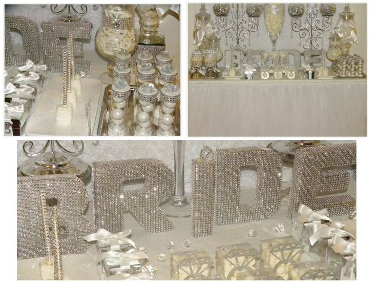 Sparkly bridal shower party! See more party planning ideas at CatchMyParty.com!