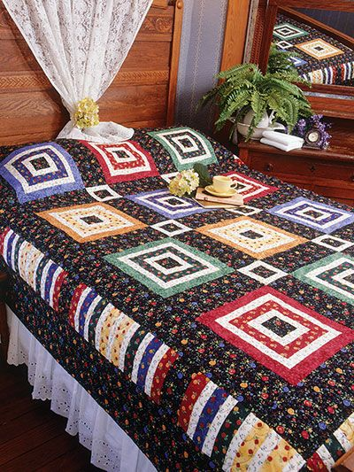 Quilting - Bed Quilt Patterns - Patterns for Classic Designs - Courthouse Rounds