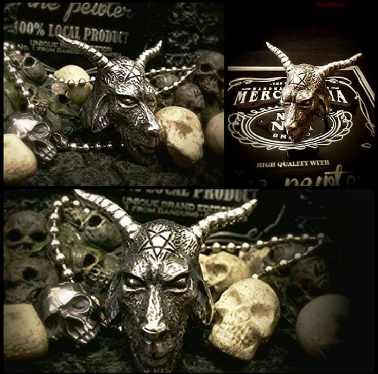 Satanic Ring Pewter material Ready stock and ready for custom
