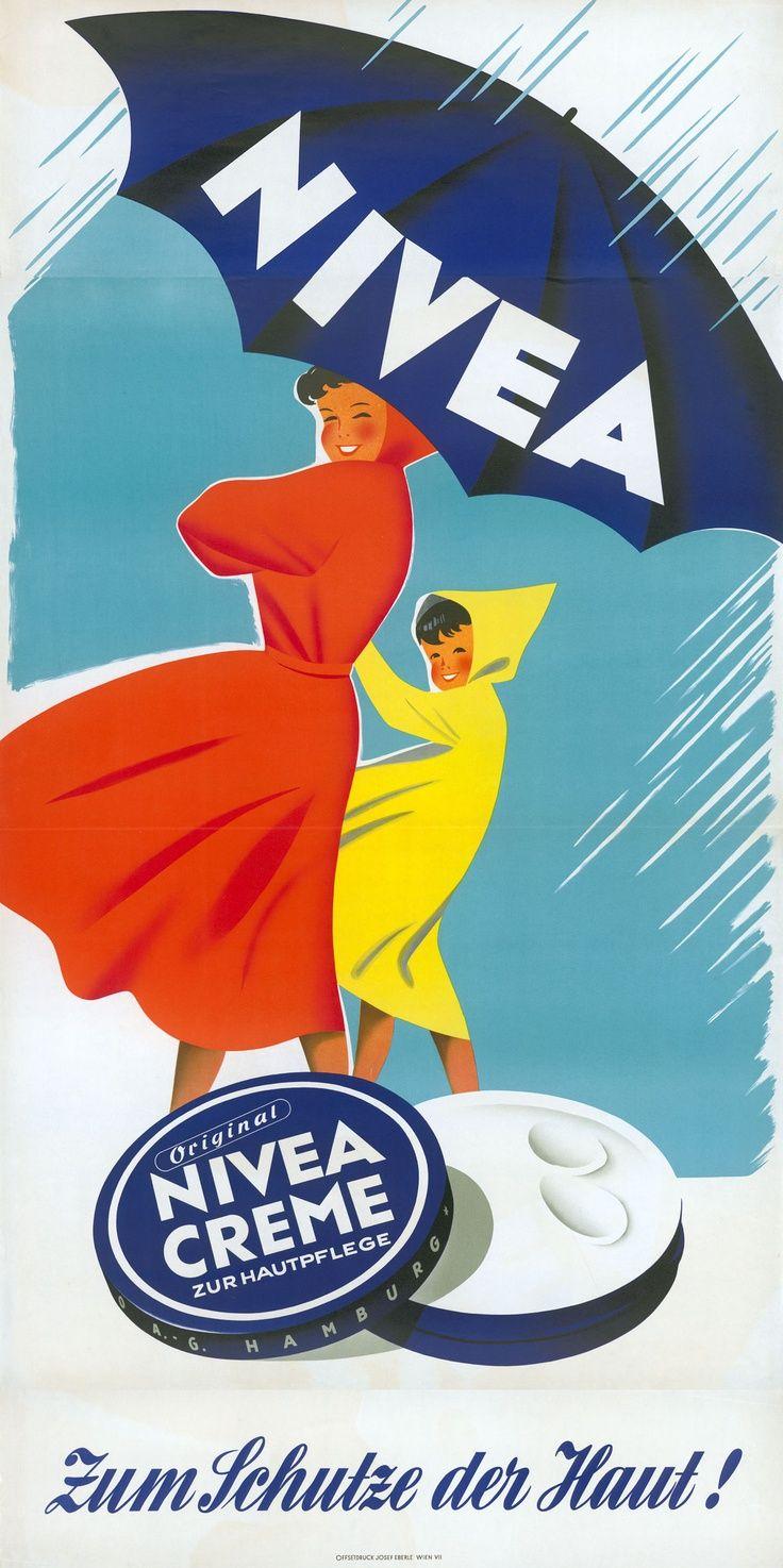 NIVEA Retroanzeige - 1954. #nivea #retro Love this ad.