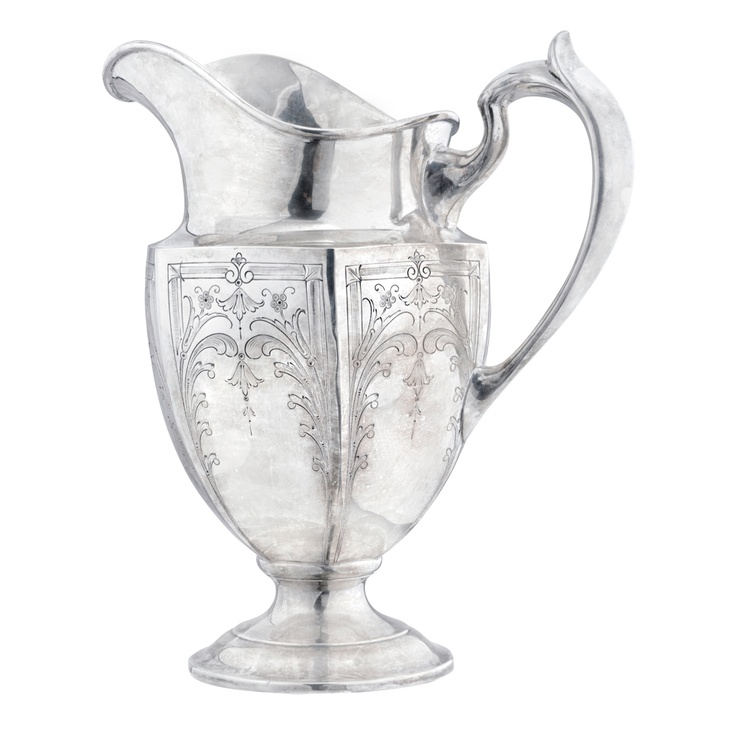 Estate Betteridge Collection Large Antique Silver Water Pitcher