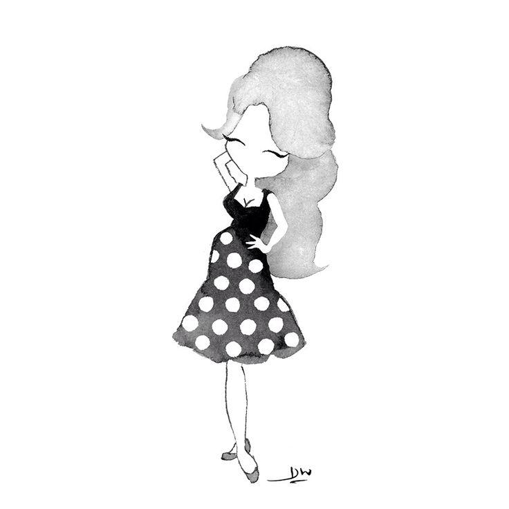 Brigitte Bardot in La Femme et le Pantin. Illustration by danielillustrations