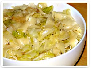 Haluski (Cabbage & Noodles) I have made this ever since our daughter spent a month in Czech Republic.  it's great served with pork tenderloin roasted with Lawrys Seasoned Salt!