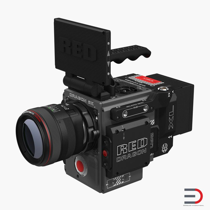 Red Weapon Dragon 5k Professional Movie Camera 3d model