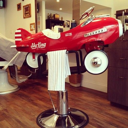vintage child's barber chair