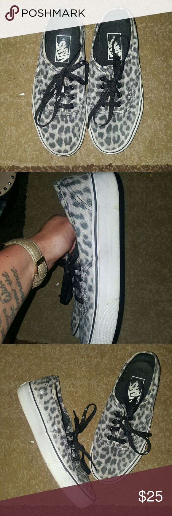 Leopard Vans Pre-loved but have much more life left. Size womens 6 Vans Shoes Sneakers