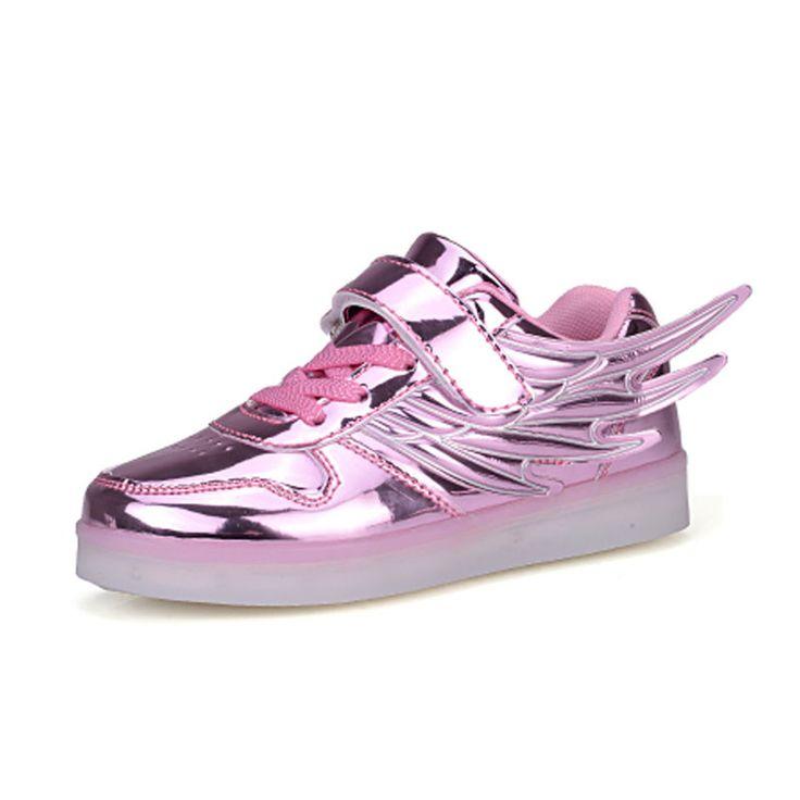 Flashing Shoes USB Charging LED Luminous Kids Led Light Shoes 2016 Boy Girl Colorful Fashion Sneakers tenis masculino esportivo