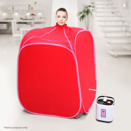 Pink - Portable Steam Sauna Tent with Hat at crazysales.com.au - Relax and Detoxify with the Portable Steam Sauna Tent