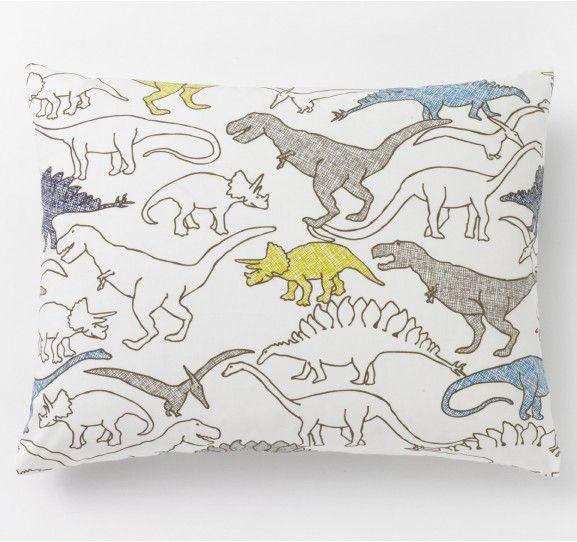 Dinosaurs Multi Single Standard Sham - Kids Bedding - Bedding by DwellStudio