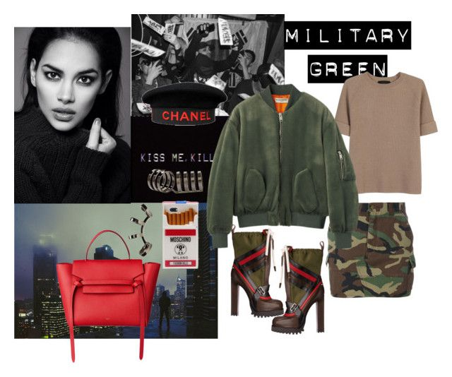 """""""Untitled #237"""" by raphaelaelena on Polyvore featuring Yves Saint Laurent, Chanel, The Row, Repossi and Moschino"""