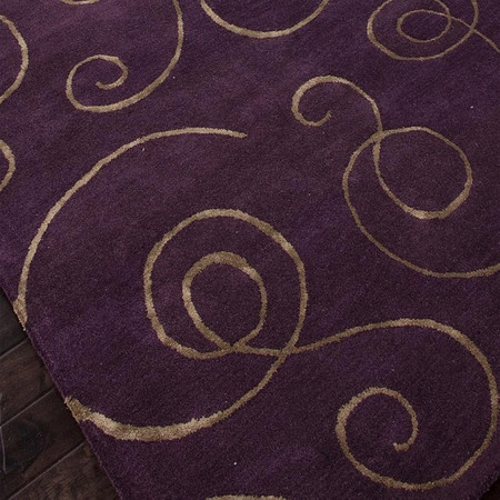 black handbag Clarence Rug in Purple  For the Home