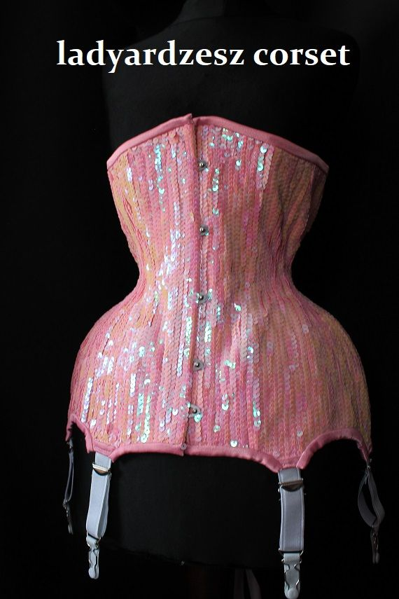 Hand sewn sequins corset