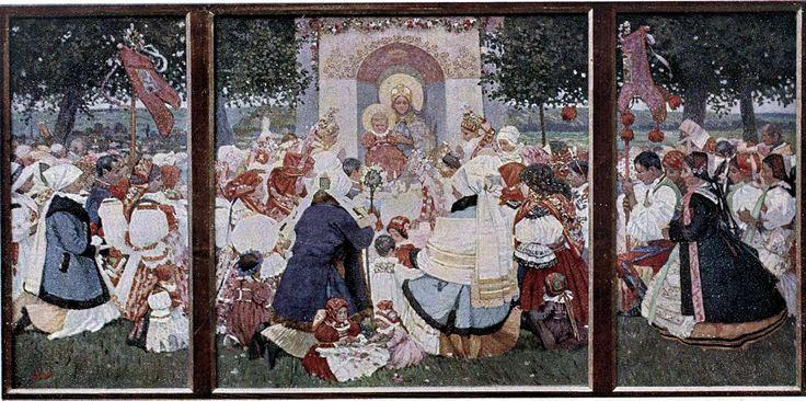 Joseph Uprka - Madonnen verehrung - Joža Uprka – Wikipedie
